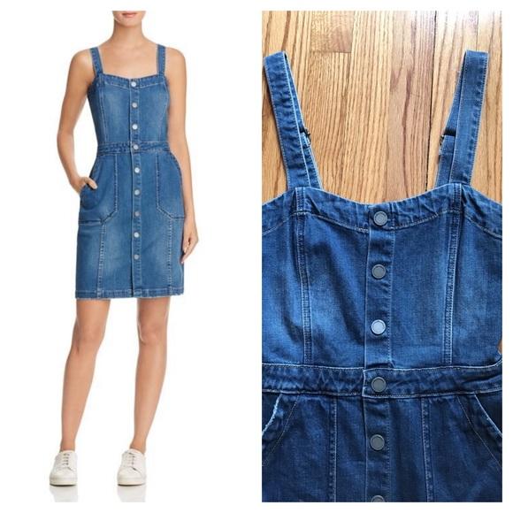 682e36290 Blank NYC Dresses | Last Chance Denim Jumper Overall Dress | Poshmark